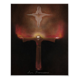 St Francis von Assisi Poster
