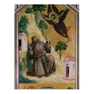 St Francis, welches die Schanden, c.1295-1300 Postkarte