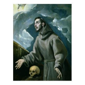 St Francis, welches die Schanden (Öl, empfängt auf Postkarte
