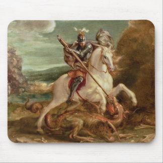 St George, das den Drachen, (Öl, tötet auf Platte) Mauspad
