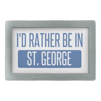 St George Rechteckige Gürtelschnalle