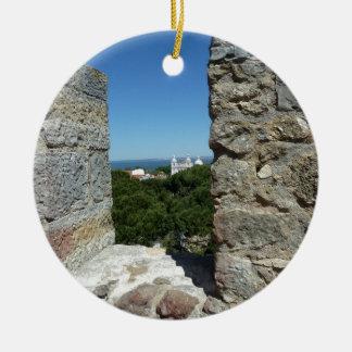 St George Schloss-Grußkarte (Lissabon, Portugal) Keramik Ornament