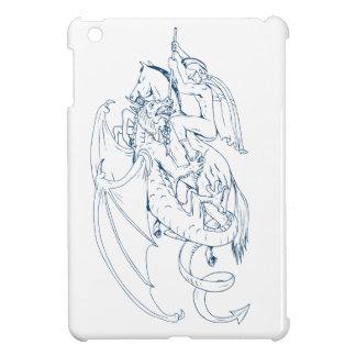 St George töten das Drache-Zeichnen iPad Mini Hülle