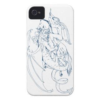 St George töten das Drache-Zeichnen iPhone 4 Hüllen