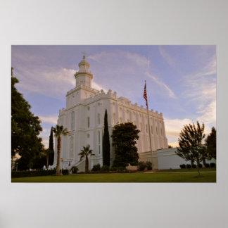 St George Utah, LDS Tempel Poster