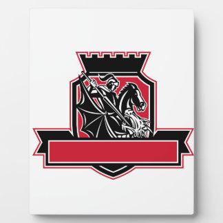 St Georgeslaying-Drache-Wappen Retro Fotoplatte