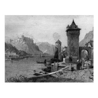 St. Goar, graviert von J. Outhwaite Postkarte