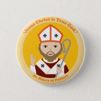 St. Hilary von Poitiers Runder Button 5,7 Cm