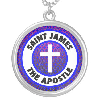 St James der Apostel Versilberte Kette