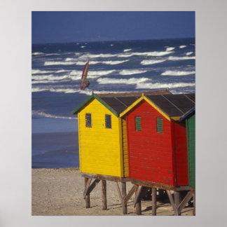 St- Jamesbucht, die Kästen, nahe Kapstadt, 3 badet Poster