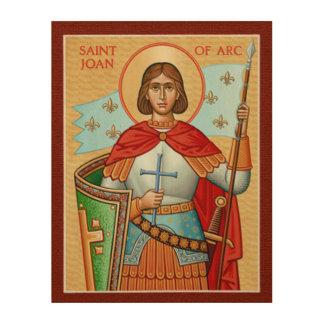 St. Jeanne d'Arc Holzleinwand