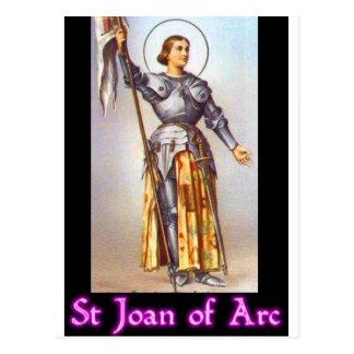 St. Jeanne d'Arc Postkarte