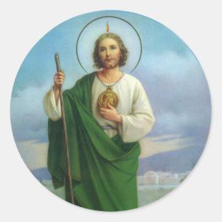 St. Jehuda der Apostel-Cousin von Jesus Runder Aufkleber