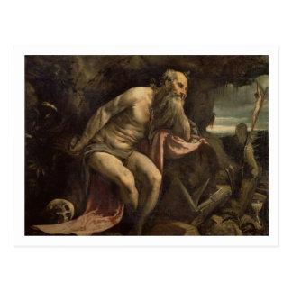 St Jerome, frühe 1560s (Öl auf Leinwand) Postkarte