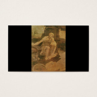 St Jerome in der Wildnis durch Leonardo da Vinci Visitenkarte