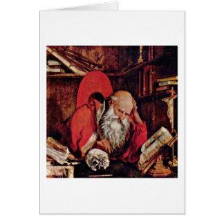 St Jerome in der Zelle durch Marinus Reymerswaele Karte