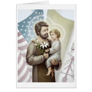 St Joseph der Schutz Karte