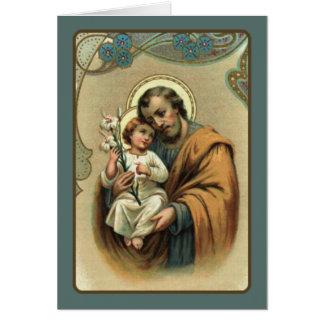St Joseph mit Baby Jesus Karte
