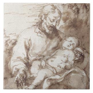 St Joseph mit dem schlafenden Christus-Kind (Stift Fliese