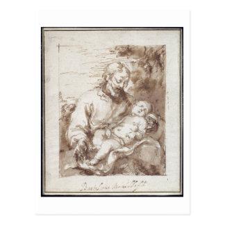 St Joseph mit dem schlafenden Christus-Kind (Stift Postkarte