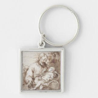 St Joseph mit dem schlafenden Christus-Kind (Stift Schlüsselanhänger