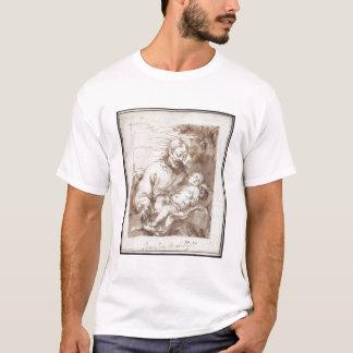St Joseph mit dem schlafenden Christus-Kind (Stift T-Shirt