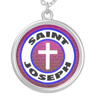 St Joseph Versilberte Kette