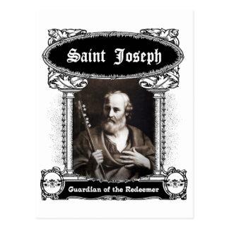 St Joseph - Wächter der Redeemer-Postkarte Postkarte