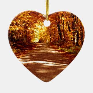 St- Josephinsel-Fall-Ausflug Keramik Herz-Ornament