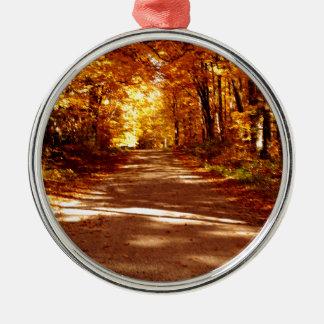 St- Josephinsel-Fall-Ausflug Rundes Silberfarbenes Ornament