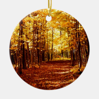 St- Josephinsel-Fall-Farben Rundes Keramik Ornament