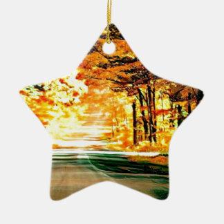 St- Josephinsel-Land-Straße Keramik Stern-Ornament