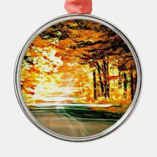 St- Josephinsel-Land-Straße Silbernes Ornament