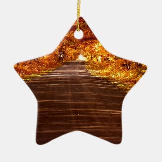 St- Josephinselfahrbahn in der vollen Fallfarbe Keramik Stern-Ornament