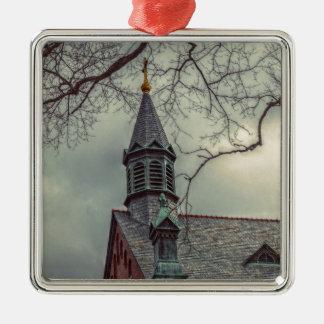 St- JosephKapelle Quadratisches Silberfarbenes Ornament