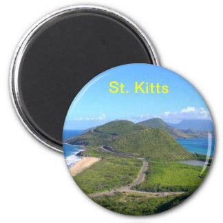 St. Kitts Karibisches Meer, St. Kitts Runder Magnet 5,7 Cm