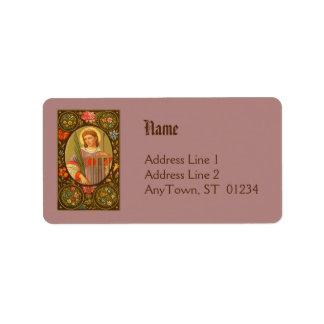 St. Lawrence des Adressen-Etiketts Roms (P.M. 04) Adressaufkleber