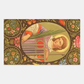 St. Lawrence von Rom (P.M. 04) Rechteckiger Aufkleber