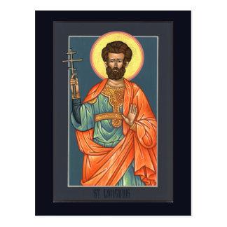 St. Longinus die Befehlshaber-Gebets-Karte Postkarte