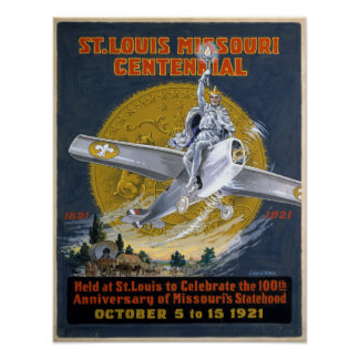 St. Louis Missouri Centennial 1921 Poster