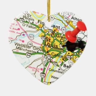 St. Louis, Missouri Keramik Herz-Ornament