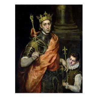 St. Louis und seine Seite, c.1585-90 Postkarte