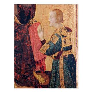 St. Louis von Toulouse seinen Bruder krönend Postkarte