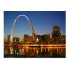 St.- Louisbogen Missouri auf dem Mississippi bis Postkarte