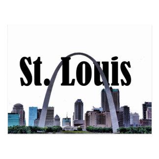 St.- LouisSkyline mit St. Louis in der Postkarte