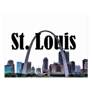 St.- LouisSkyline mit St. Louis in der Postkarten