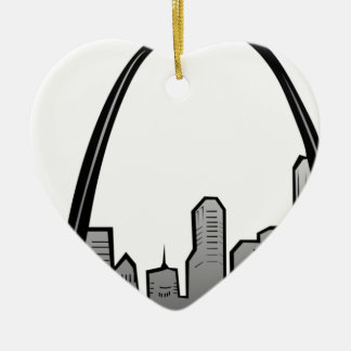 St. Louisskyline-Zeichnen Keramik Ornament