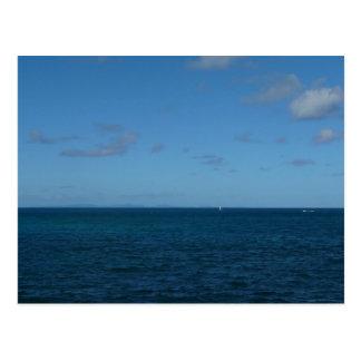 St- Luciahorizont-Blau-Ozean Postkarte