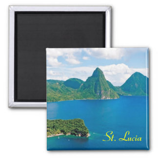 St- LuciaKühlschrankmagnet Quadratischer Magnet