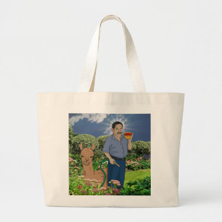 St. Luis bereit im Garten Jumbo Stoffbeutel